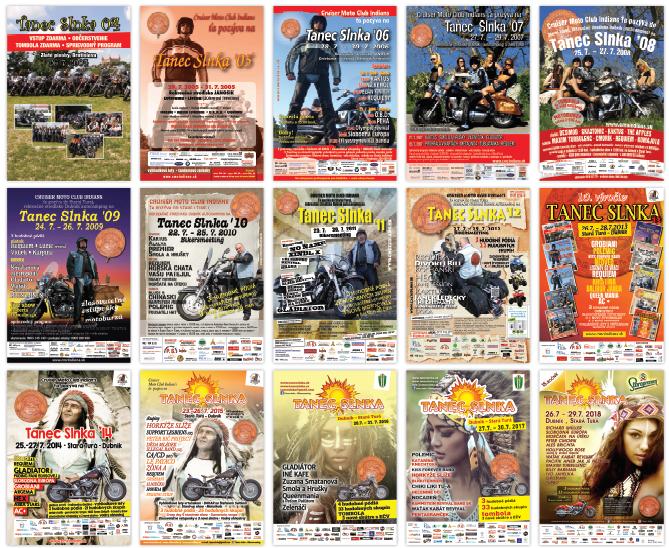 Obraz - plagáty Tanec Slnka 2004-2018
